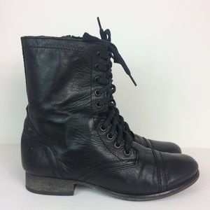 Steve Madden Troopa Boots Size 8.5 M Black Leather